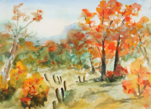 Autumn Idyll   Watercolor Original/Prints Available
