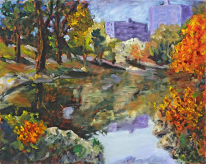Autumn in New York   Oil on Linen