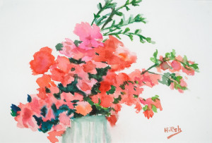 Azaleas   Watercolor Prints Available