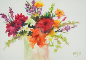 Bouquet      Watercolor  Prints Available
