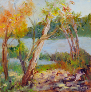 By the River    Oil  Original/Prints Available