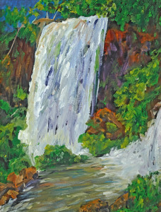 Fall at Iguazu    Acrylic  Original/Prints Available