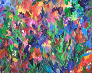 Garden Party    Acrylic Original/Prints Available