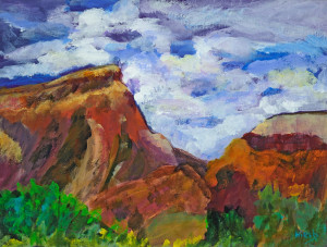 Ghost Ranch View     Acrylic  Original/Prints Available