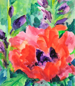 Oriental Poppy  Watercolor Original/Prints Available