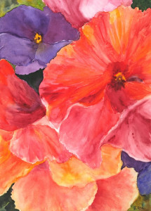 Pansy Ruffles   Watercolor Original/Prints Available