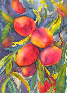 Peaches  Watercolor Prints Available