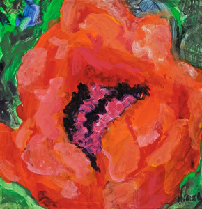 Poppy  Acrylic Original/Prints Available