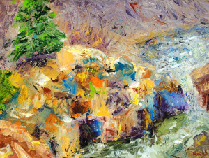 Rushing Water  Oil Original/Prints Available