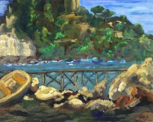 Sorrento Marina Grande  Gouache Original/Prints Available