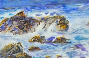 Surf  Watercolor Original/Prints Available